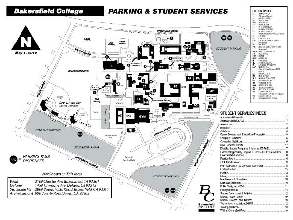 Bakersfield College Map | World Map 07